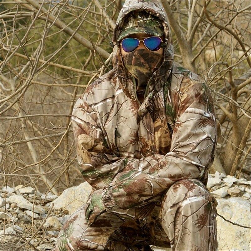 Wodoodporne oddychające martwe liście kamuflaż wędkarstwo polowanie 3D Bionic strój Ghillie Snipper taktyczne ubrania wojskowe kurtka