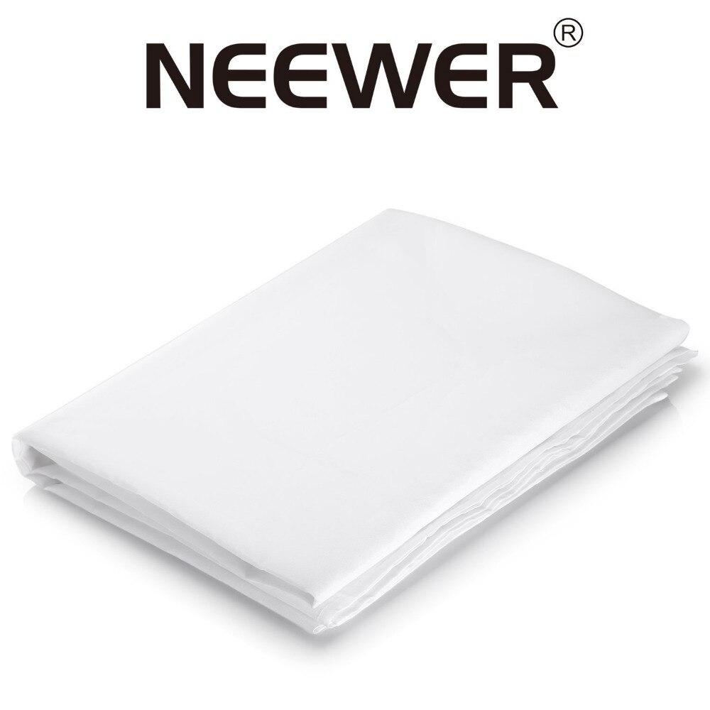 Neewer 2yardx60 дюймов/1,8 м x 1,5 м нейлон шелк Белый бесшовная Диффузия ткань для фотографии софтбокс светильник Палатка/светильник модификатор