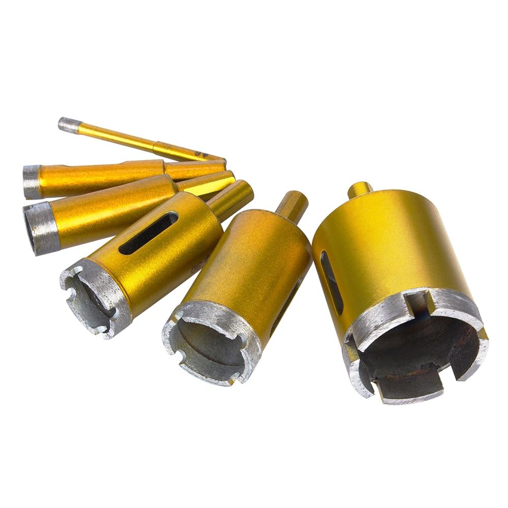 6Pcs 6/14/20/30/35/50mm Diamond Drill Bit Sets Marble Granite Stone Ceramic Tile Core Drill Bits