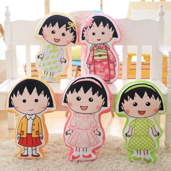 Juguete de peluche bonito de dibujos animados Chi-bi Maruko 50cm, juguetes de peluche suaves, cojín, regalo de cumpleaños y Navidad #1222
