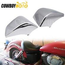 Couvercles de carpe latéraux de batterie de moto   ABS noir chromé, plastique pour Honda Shadow ACE 750 VT750 VT400 1997 1998 1999-2003