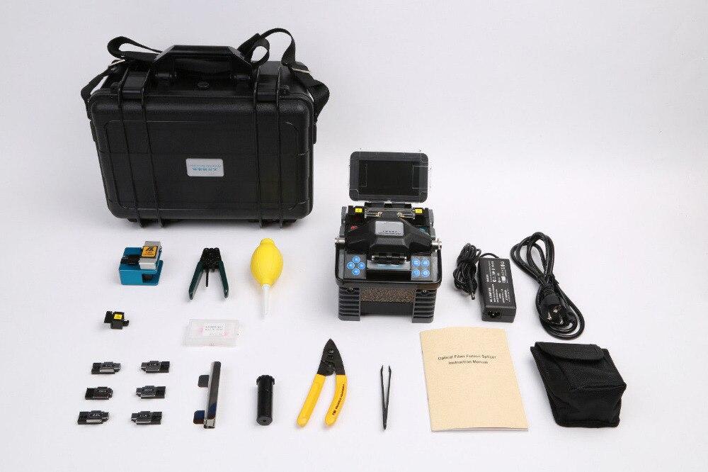 Empalmador de fusión de fibra óptica grandway original F2H-ALK88, máquina de fusión de fibra óptica, con accesorios completos