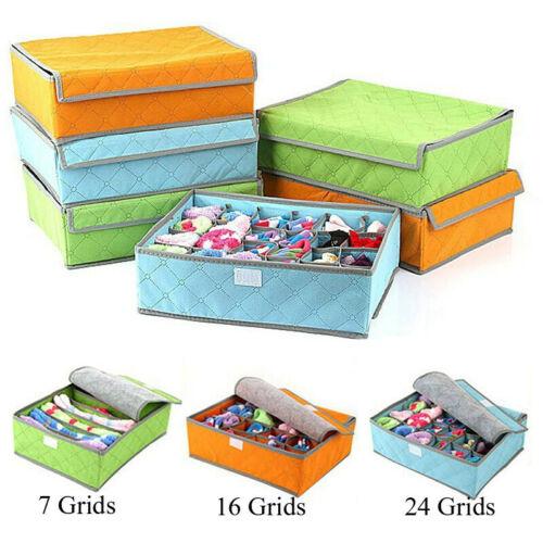 Faroot 3Pcs Foldable Household Underwear Socks Storage Boxes Waterproof Drawer Boxes Organiser Holder