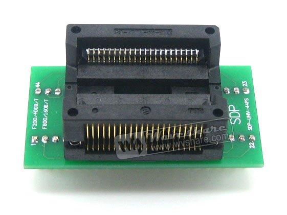 Waveshare SOP44 TO DIP44 Enplas IC Programmer Adapter Test Burn-in Socket 1.27mm Pitchfor SOP44 SO44 SOIC44 Package