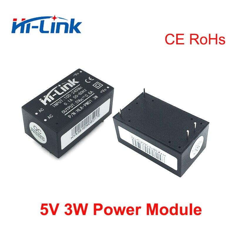 Envío Gratis 5 unids/lote HLK-PM01 AC-DC 220v a 5V 3W interruptor inteligente del hogar módulo de fuente de alimentación