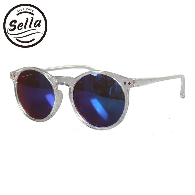 Sella Super Luz Retro moda redonda chicas lentes de sol con película de color lente UV de protección de los niños gafas de sol de alta calidad