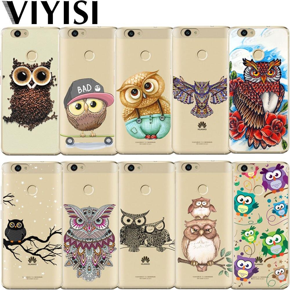 VIYISI búho Animal para Huawei P20 Lite Honor 9 6A Mate 9 10 Pro P8 P9 P10 Lite teléfono caso Nova 2 Plus Y5 2017 Y6 II Pro Y7 cubierta