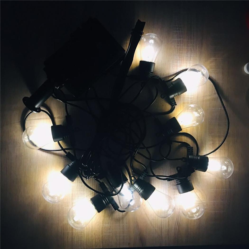 Luces de cadena LED solares decoración del hogar lámparas de 1,5 W 5,5 V 7,15 m/281 pulgadas para el jardín boda IP65 fiesta 10 Leds