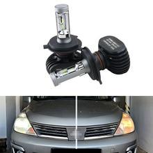 Kit de phares à pointe 50W 8000LM   Kit de phares haute puissance pour Nissan Tiida 1st. Gen. C11 (2008)