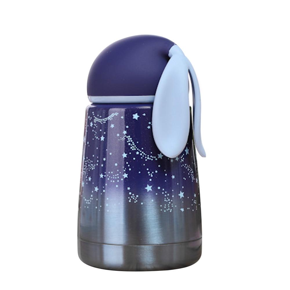 300ML Stainless Steel Vacuum Flask Mug Cup Kawaii Shape Thermos Coffee Milk Food Thermo Bottle Kids Gift