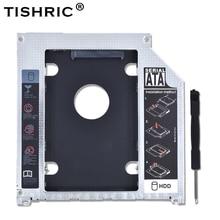 Boîtier de disque dur en aluminium 2nd 9.5mm SATA 3.0 Optibay boîtier SSD boîtier de disque dur pour Apple Macbook Pro Air 13