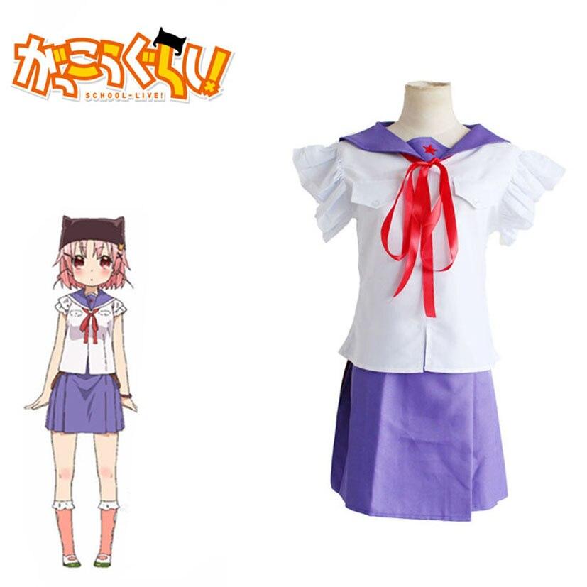 Популярная школьная форма Gakkou Gurashi Takeya Yuki для костюмированной вечеринки, школьная форма для девочек в стиле японского аниме, полный комплект для костюмированных вечеринок