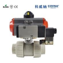 HK57 1 1/2 pulgadas Penumatic CPVC válvula de bola con acción única