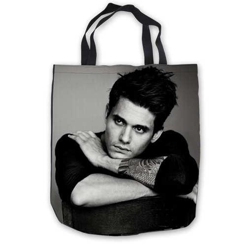 Bolsas de mano de lona personalizadas John Mayer Quotes (1), bolsas de compras, bolsos de playa casuales, plegables 180911-02-80