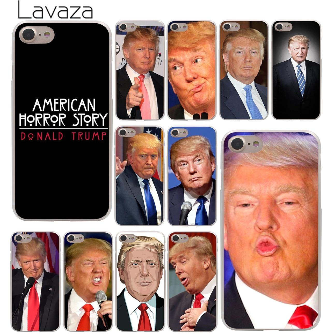 Lavaza Donald John Trump teléfono caso duro para el iPhone XR X XS X 11 Pro Max 10 7 8 6 6S 5 5 5S SE 4 4S cubierta