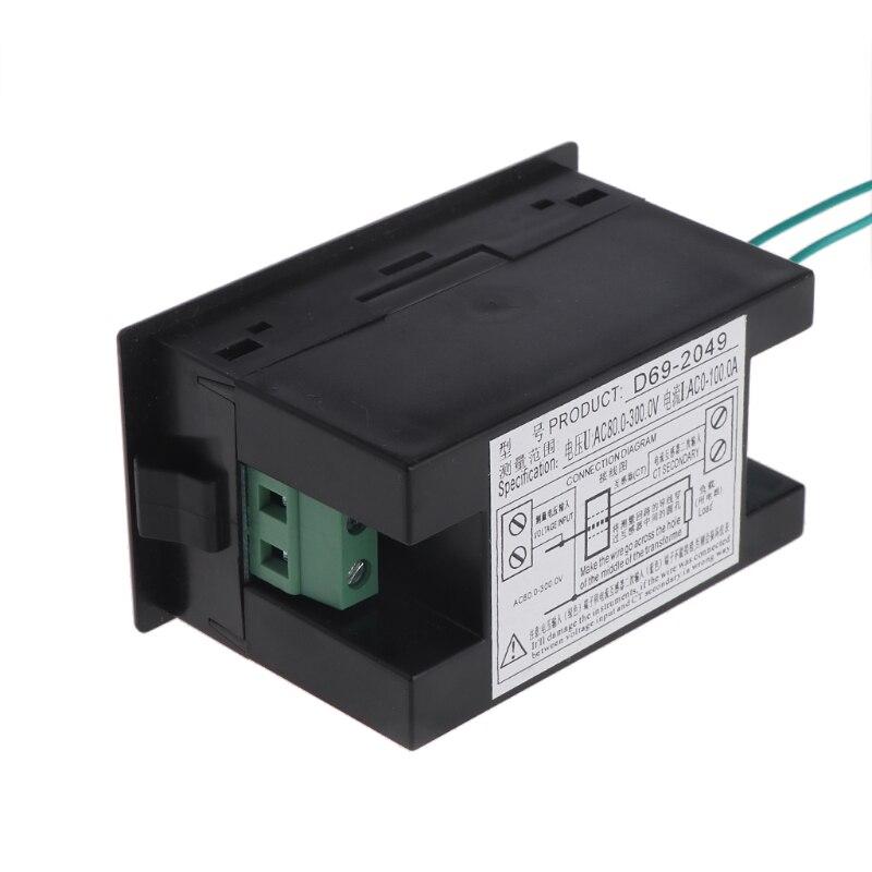 Voltímetro amperímetro ca de 80-300 V, medidor de energía de voltios, amperímetro de potencia de 100 a CT G07, gran valor, 4 de abril
