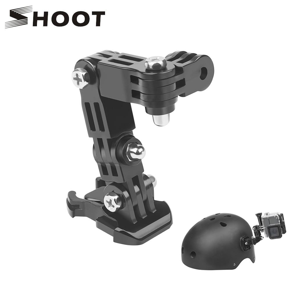 SHOOT Adjustment Base Mount for GoPro Hero 9 8 7 5 Xiaomi Yi 4k Sjcam Sj4000 Action Camera Tripod Helmet Belt Mount Accessory 1pcs j hook buckle surface mount for yi sjcam sj4000 sj5000 sj7000 for gopro 7 6 5 4 3 action camera