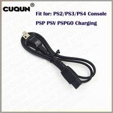 10 PCS/LOT câble de charge dalimentation pour Console PSP GO à tête plate alimentation générale bidirectionnelle pour PS2/PS3/PS4/PSP/PSV/PSPGO