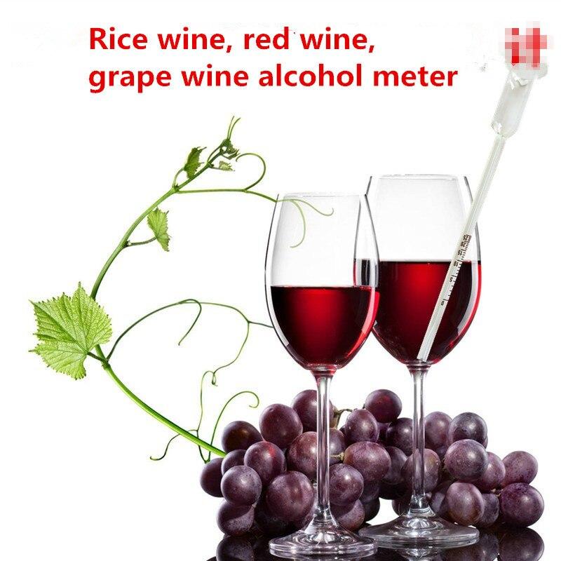 2 uds hidrómetro alcoholímetro hidrómetro para alcohol alcoholímetro densitómetro densímetro flotante copa de vino 0-25