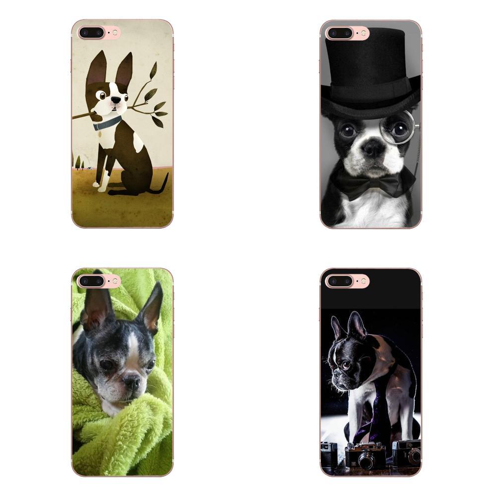 Boston Terrier cachorros de perro suave móvil del TPU para Huawei Nova 2 V20 Y3II Y5 Y5II Y6 Y6II Y7 Y9 G8 G9 GR3 GR5 GX8 primer 2018 de 2019