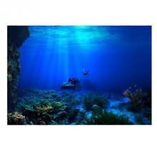Affiche en PVC de fond daquarium   Affiche à effet 3D de monde de mer, Aquarium fantaisie, fond de mer nautique, décorations daquarium HD