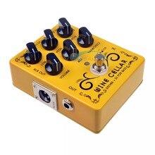 Caline CP-60 driver + di para baixo guitarra pedal efeito acessórios da guitarra mini pedal peças de guitarra uso para guitarra