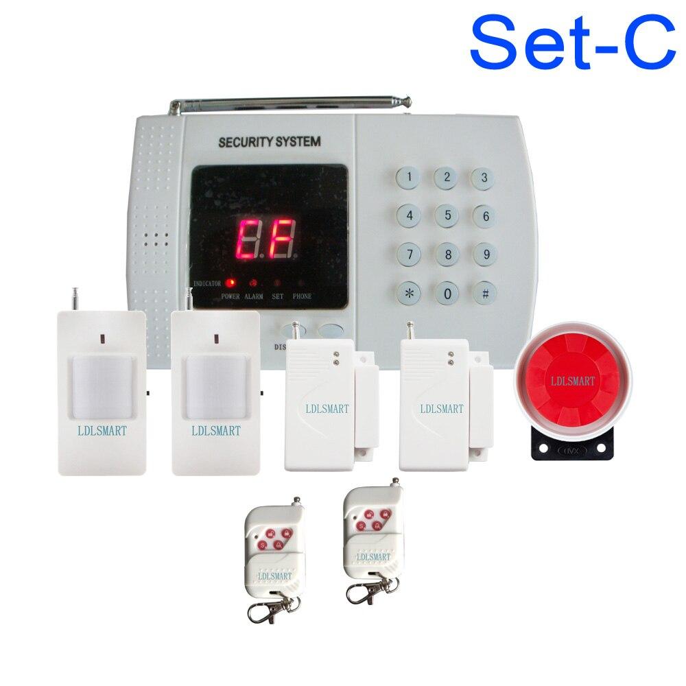 PSTN sistema de alarma de seguridad para el hogar teléfono inalámbrico línea Sistema de alarma antirrobo para el hogar de marcador