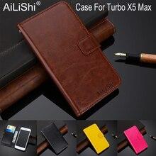 AiLiShi 100% étui exclusif pour Turbo X5 Max luxe tourner létui en cuir Top qualité couverture téléphone sac porte-cartes + suivi chaud