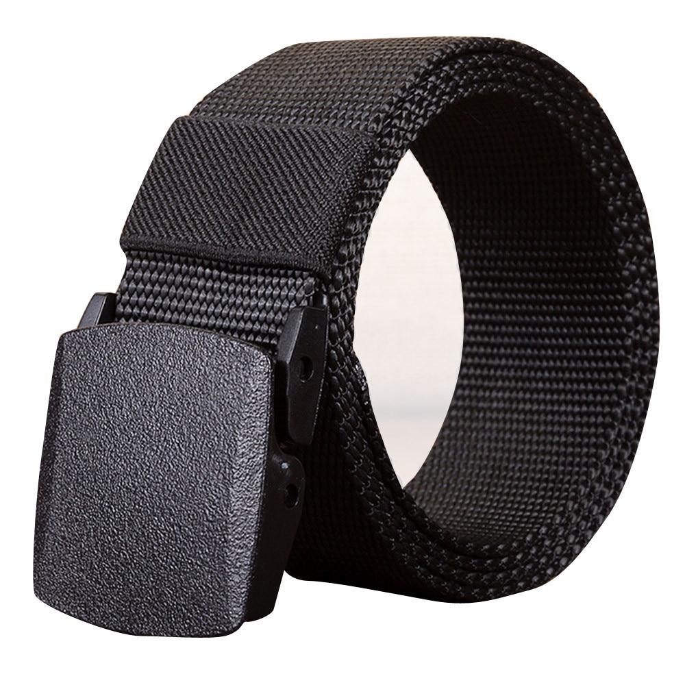 Mens Outdoor Sports Nylon Waistband Canvas Web Belt Trouser Accessories Belts Dazzling BK 140 cinturones para hombre