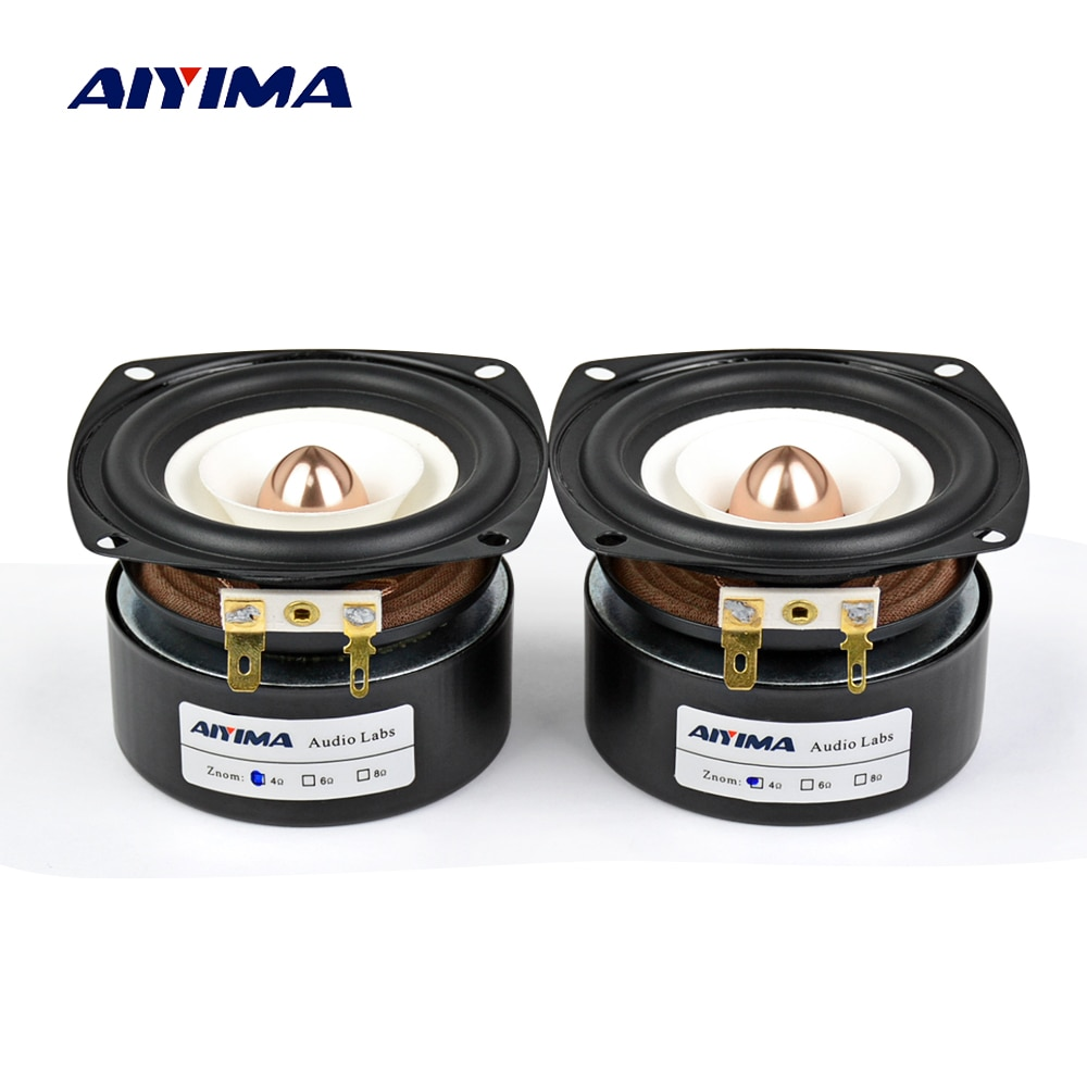 AIYIMA-altavoces portátiles de 3 pulgadas, 4 Ohm, 8 Ohm, 15W, gama completa,...