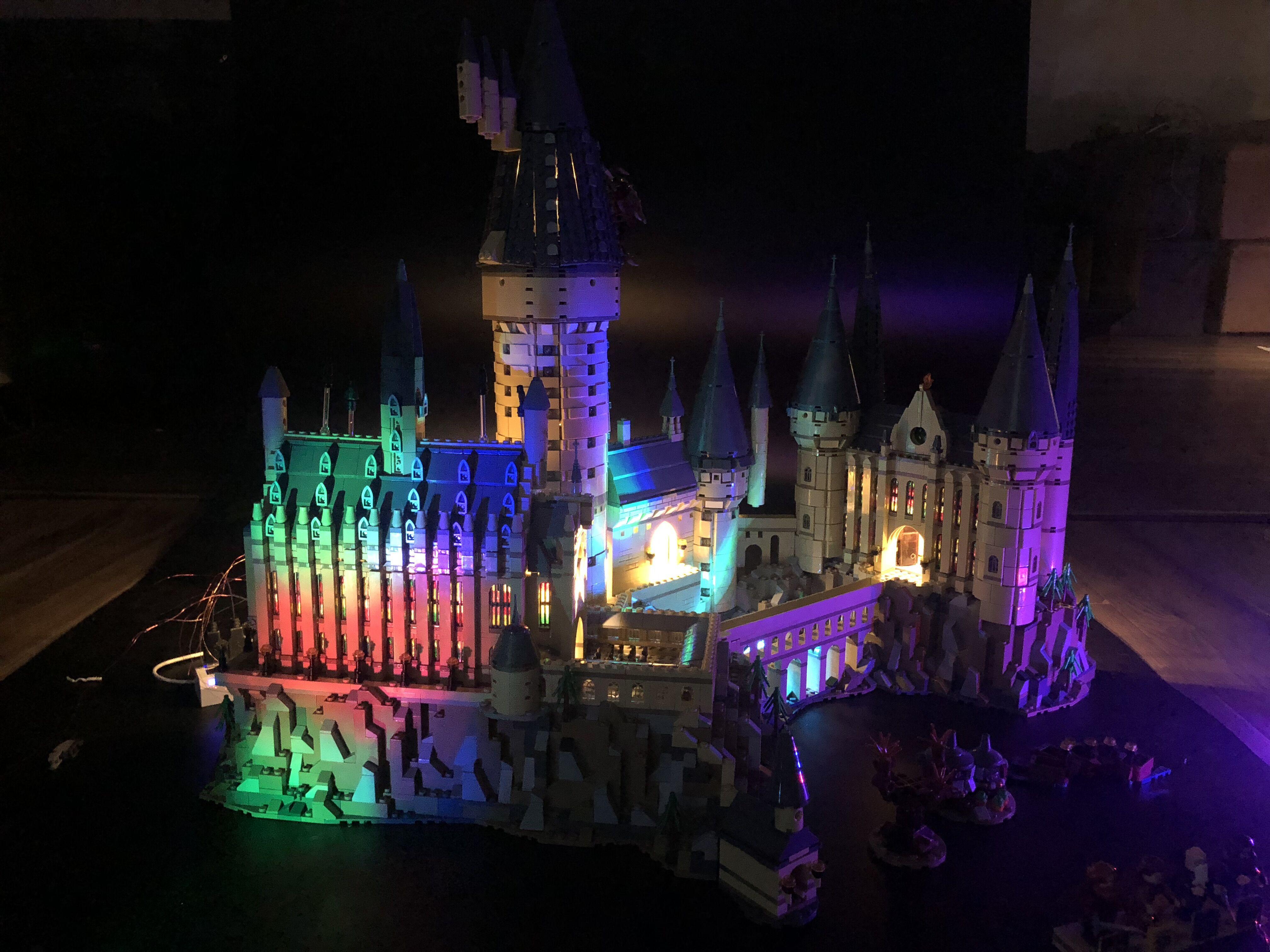 Juego de luces LED para Castillo de Hogwart Harri Potter Compatible con bloques de construcción 71043 16060 ladrillos lepining regalos de Juguetes