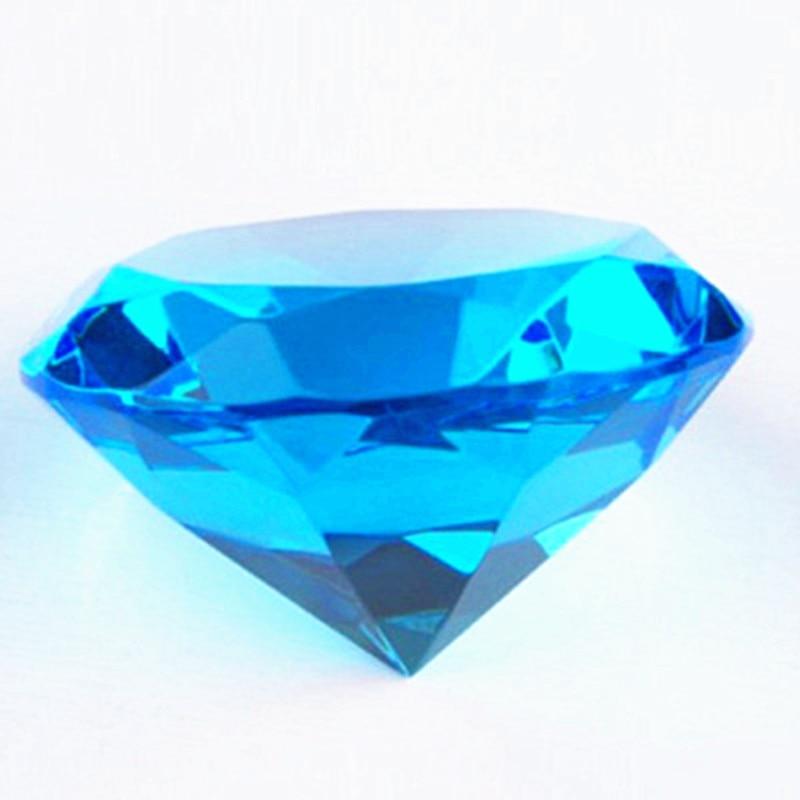 K9 recuerdos de boda de cristal, joyas pisapapeles de diamante, regalos de boda para invitados, 80mm Aqua Blue