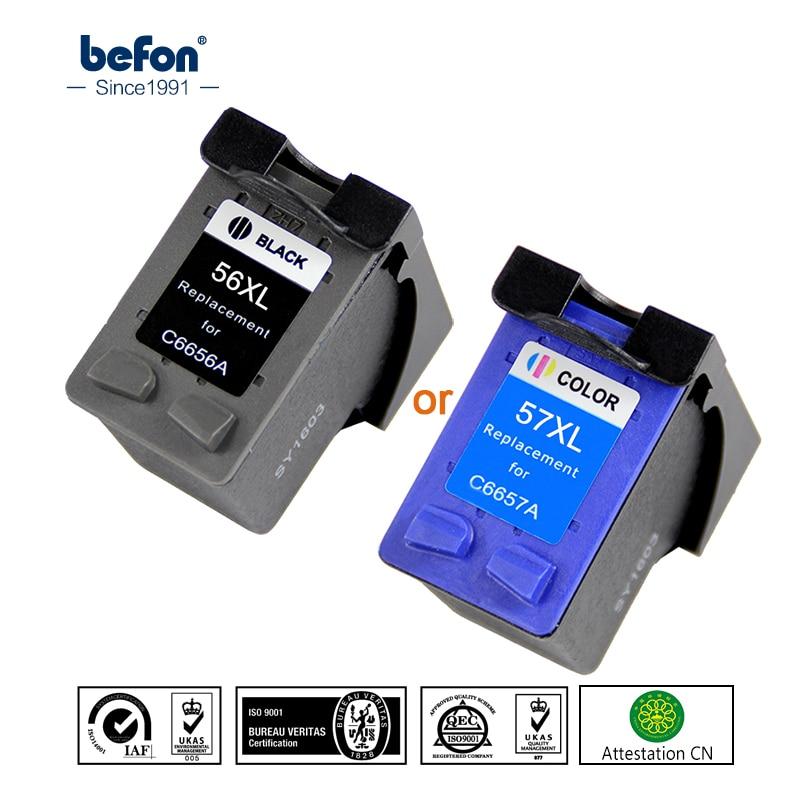 Befon Черный 56 или цвет 57 XL чернильный картридж Замена для HP 56 57 HP56 HP57 Deskjet 2100 220 450 5510 5550 5552 7150 7350