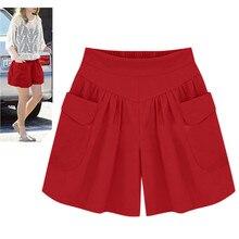 Hot ladies shorts sueltos calientes pantalones bolsillos Mujer Pantalones cortos informales de verano señora pantalones cortos Mujer spodenki damskie