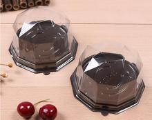Envío gratuito, caja de embalaje para tarta blister, caja de pastel rectangular transparente, cajas de plástico para cupcake, embalaje para pastelería SN1739