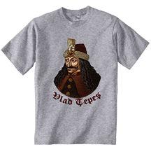 VLAD TEPES Drácula-algodón gris Camiseta de algodón camiseta clásica de alta calidad color jurney imprimir camiseta