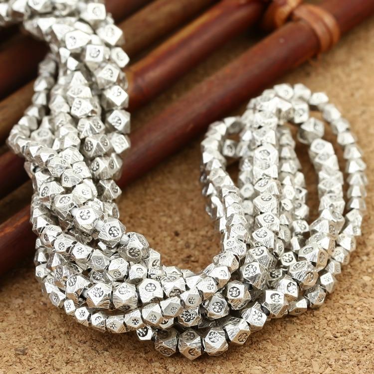 Серебряные шарики ручной работы из серебра 925 пробы, маленькие шарики из серебра Таиланда, украшения из чистого серебра с кисточками