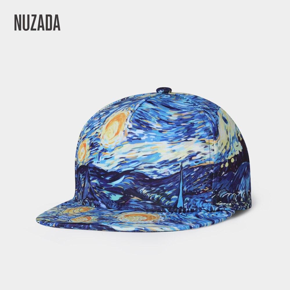 Бейсболка NUZADA, в стиле панк, уличная мода для мужчин и женщин, для пары, весенне-летние шапки, оригинальная бейсболка с 3D принтом