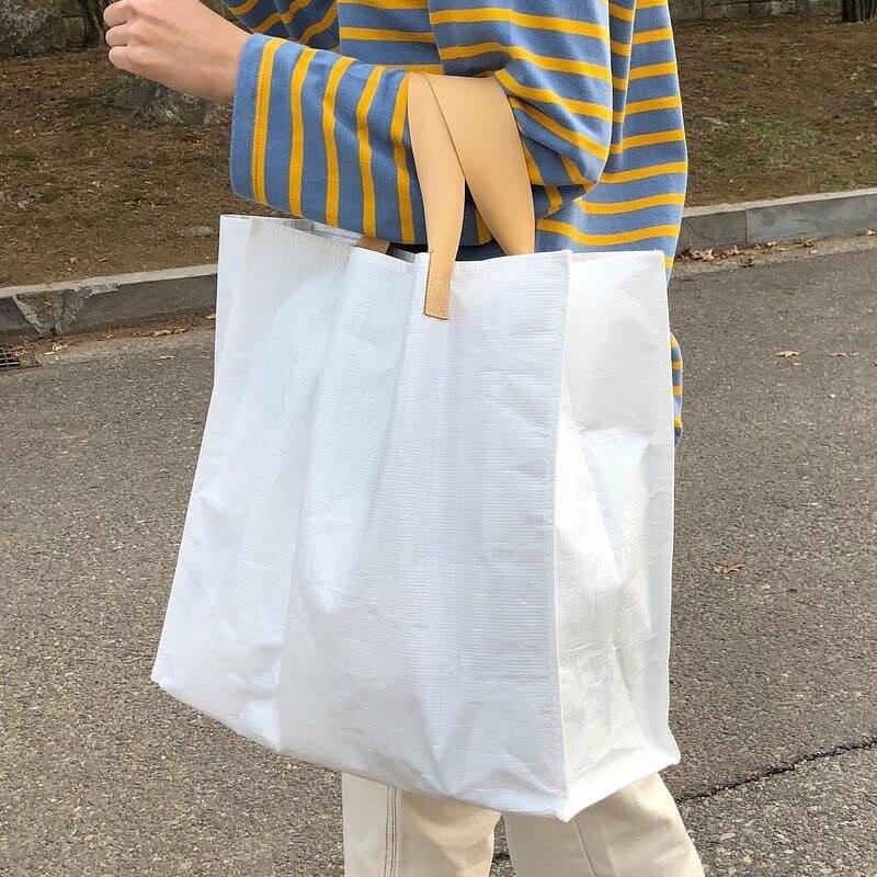 Korea południowa wschodnia brama nowa Ins Super Hotbag tkana rozrywka Baitao torba na zakupy torebka damska torebka