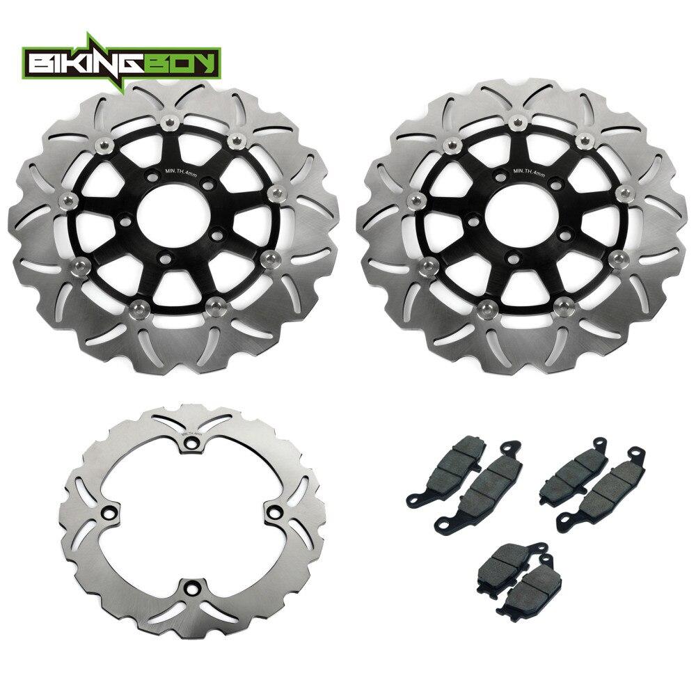 BIKINGBOY frente discos de freno trasero rotores discos pastillas para Suzuki DL650 V-STROM 04 05 06 DL 1000, 2002-2009, 2008, 2007, 2006, 2005, 2004