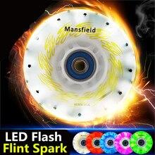 [LED en Spark] 85A LED Flash Shining Inline Skates Wiel, met 52 104 208 Flint Fire Stenen Vonken Roller voor SEBA IGOR HV HL