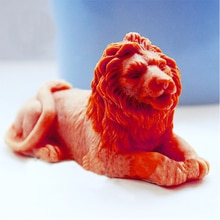 Animaux moule Lion 3D savon moule Silicone moules moule pour savon Lion moules Handemade bricolage savons moule Gel de silice arôme pierre moules