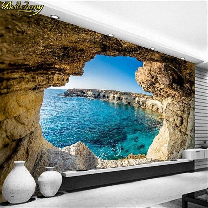 Обои для фотосъемки, Современные Простые пещеры, морской пейзаж, фотообои природа, гостиная, спальня, декор интерьера, обои для рабочего пространства