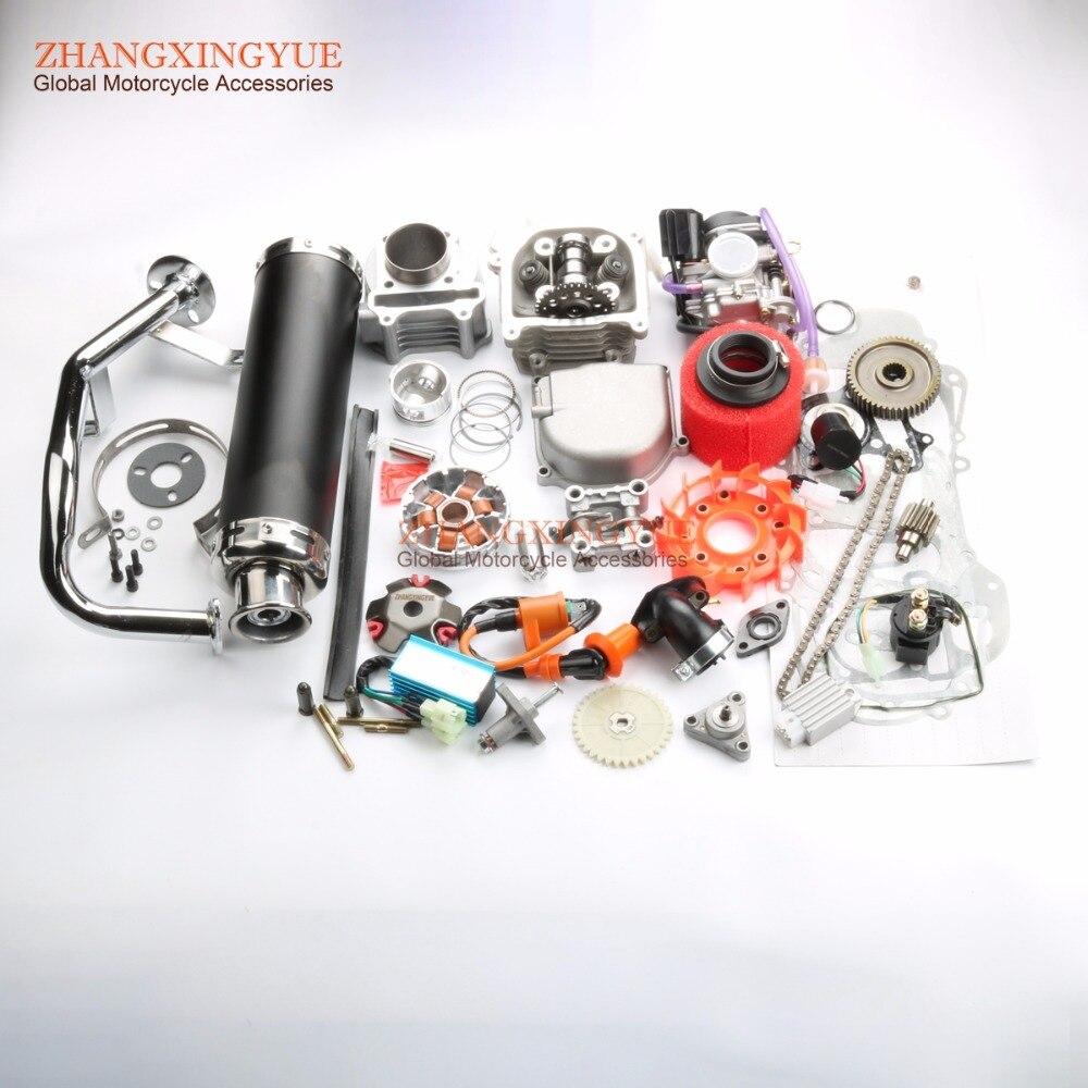 50mm Big Bore Performance Kit 9 holes Cam AC CDI 20mm Carburetor for GY6 50cc Upgrade 100cc 139QMB 1P39QMA 6 colors available