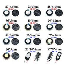 YuXi 1 pièces 8 ohm 1W 2W klaxon haut-parleur 8R 1/2W 20mm 22mm 23mm 26mm 28mm 32mm 36mm 40mm haut-parleur pièce de remplacement.