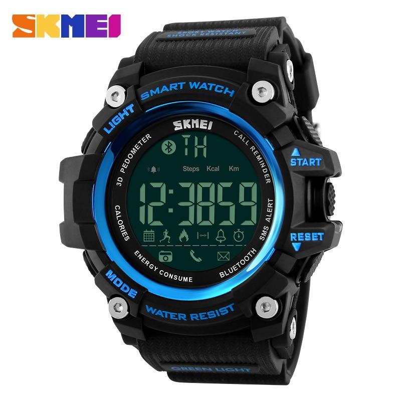 SKMEI, reloj deportivo para correr al aire libre, cronógrafo LED, podómetro impermeable, contador de calorías, relojes de pulsera inteligentes digitales para hombres y mujeres