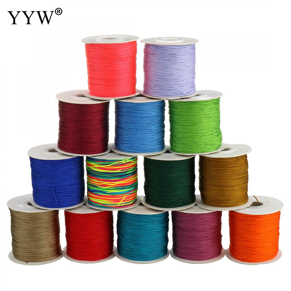 90 meter/roll 0.8 milímetros de Nylon Cord Tópico Chinês Knot Macrame Pulseira Trançada Cord Cordas DIY Borlas Beads cord para fazer jóias