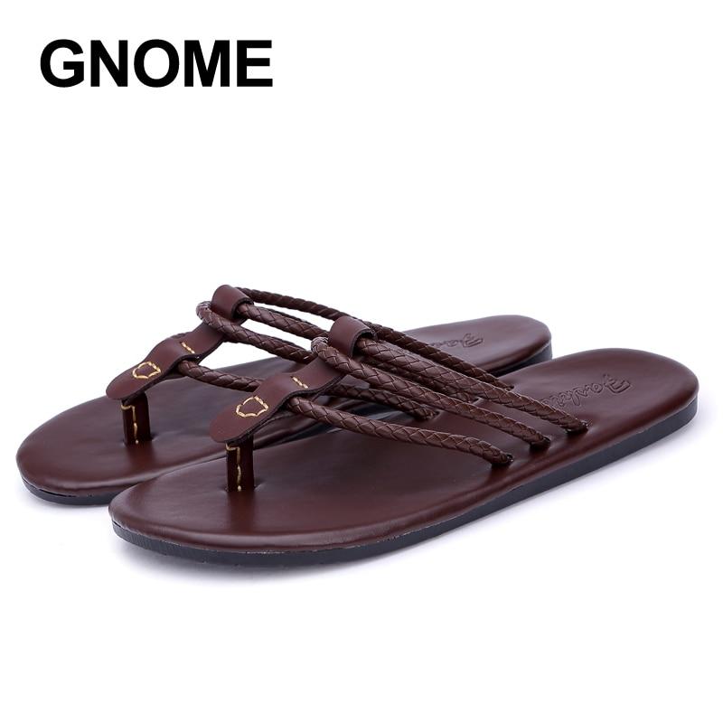 Zapatillas de Verano de la marca GNOME para hombre, sandalias de playa cómodas, chanclas para hombre, zapatillas de exterior suaves para hombre