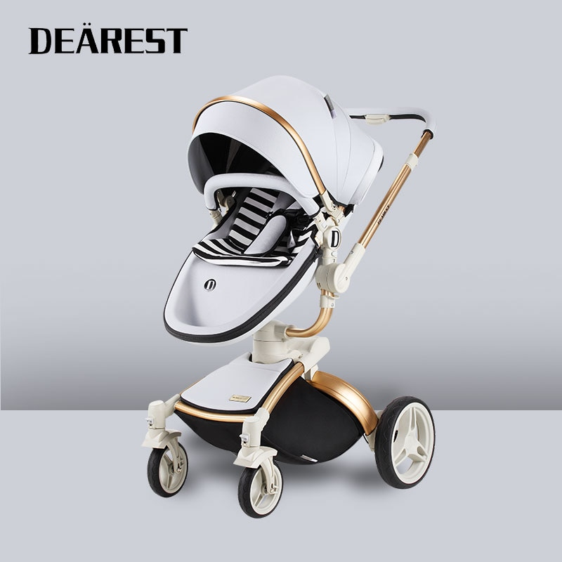 Dearest Diamond 2 in 1 High Landscape Baby Stroller  lying or dampening folding light weight two-sided child four seasons Russia