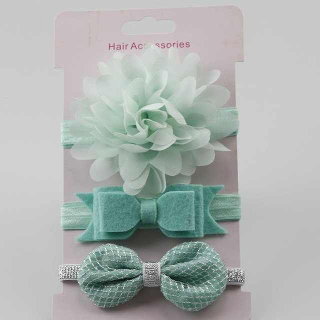 3Pcs Baby Elastic flower headband Headbands Hair Girls Bebe Bowknot Hairband Toddler Infants accessories set photography props 6
